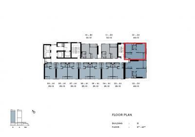 ขายคอนโดวงเวียนใหญ่ เจริญนคร : ขาย chapter เจริญนคร  Riverfront ตึกB ตำแหน่ง B01 ชั้นสูง25,31