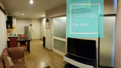 For RentCondoKaset Nawamin,Ladplakao : For rent, Baan Navathara, 38 sqm., Only 8500 baht / month