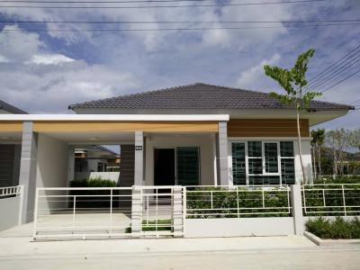 For SaleHouseRayong : Sell or rent Baan Pornphirom, Line 11, Corner, Modern style single house, 2 bedroom, 2 bathroom, fully furnished, internet appliance, Nikhom Phatthana, Rayong