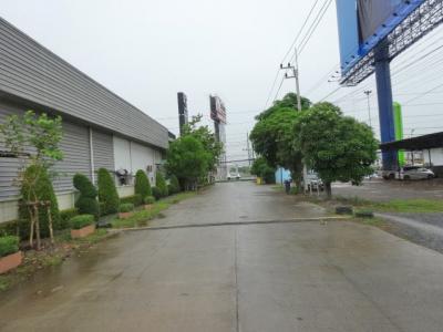 For RentLandRangsit, Patumtani : purple area for rent near Future Park Rangsit Project on the main road Suitable for factories, warehouses, etc.