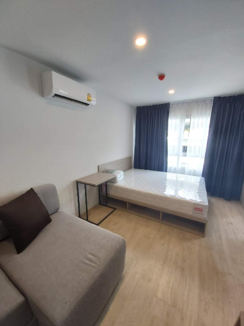 For RentCondoKasetsart, Ratchayothin : Elio Del Moss, Studio room for rent, new, beautiful, fully furnished, near Kasetsart University