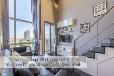For RentCondoSukhumvit, Asoke, Thonglor : Pet Friendly Condo @BTSThonglor 1 bed Duplex Type 37 sqm