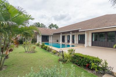 For SaleHouseHua Hin, Prachuap Khiri Khan, Pran Buri : Beautiful Bali style house with private pool.