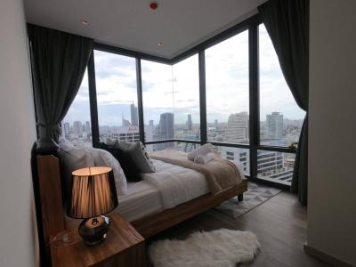 For RentCondoSilom, Saladaeng, Bangrak : Aston Silom Ready to Move in: Brand New 2bed 2 bathrooms, fully furnished, unblocked View, Close to BTS Chong nonsi