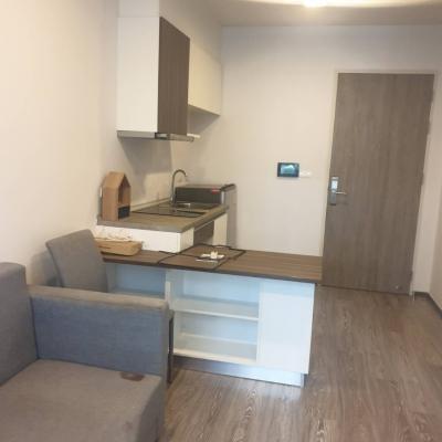 For RentCondoRattanathibet, Sanambinna : Condo for Rent at Zelle Rattanathibet, Nearby Phra Nang Klao MRT, 1 bed, with washing machine, 8,500 baht / month