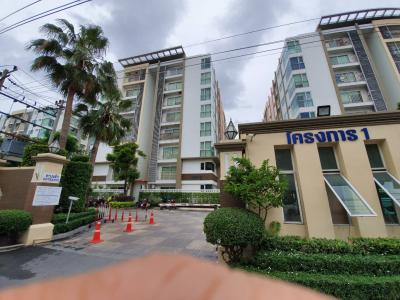 For SaleCondoThaphra, Wutthakat : Condo for sale at Metro Park Sathorn, Kanlapaphruek Road, Phase 1, Building A, 5th floor, corner room, 2 bedrooms, area 57 sqm. Tree view, 2 parking spaces, 3 air-conditioned, near MRT BTS 2.35 million baht. Contact 0653953509.