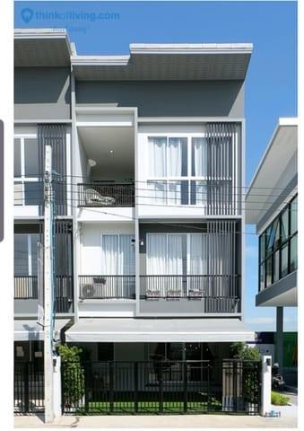 For RentTownhouseNawamin, Ramindra : RT274 3-storey townhome for rent, Sammakorn Village. Ramintra-Wongwaen