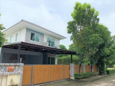 For SaleHouseLadkrabang, Suwannaphum Airport : Sell very cheap single house, 58 sq.w. Perfect Park, Suvarnabhumi, Phase 2, behind the garden corner, 4.1 MB.