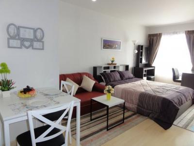 For RentCondoLadkrabang, Suwannaphum Airport : Condo Iris Avenue Onnuch-Wongwaen Near Suvarnabhumi Airport 28 sq.m New Room, Fully furnished