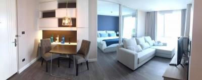 For SaleCondoOnnut, Udomsuk : Cheap sale, The Room Sukhumvit 64, size 1 bedroom, 1 bath, 1 living room, separate kitchen, 42 sqm. Price is lower than the opening price.