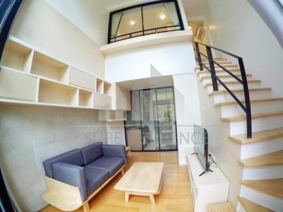 ขายคอนโดรัชดา ห้วยขวาง : 😊😍For RENT & SELL ให้เช่าและขายห้องแบบ Duplex 2 ชั้น 1 ห้องนอน ใกล้ MRT รัชดาภิเษก เพียง 1 นาที L Loft รัชดา 19 นัดชมห้อง : 099-5919653 *เจ้าของขายเอง LineID:sureresident