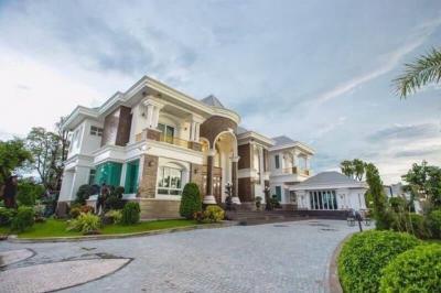 For SaleHouseRangsit, Patumtani : Luxury mansion for sale in Lam Luk Ka Khlong area 3 with a swimming pool of 4.5 rai of land near Future Park Rangsit