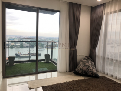 เช่าคอนโดพระราม 3 สาธุประดิษฐ์ : Starview By Eastern Star - Beautifully Furnished 2 Bedrooms / 82 Sqm / Stunning Riverview / Call 0948287879