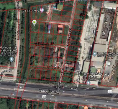 ขายที่ดินมีนบุรี-ร่มเกล้า : ขายที่ติดคลอง สุวินทวงศ์ 41 (ซอยมัสยิดนูรุ้ลลอซ์) ถนนสุวินทวงศ์ 168 ตารางวา