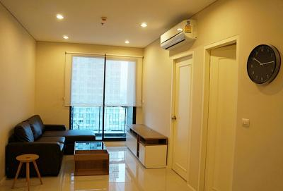 For SaleCondoRama9, RCA, Petchaburi : Condo Villa Asoke @MRT Phetchaburi 150 Meter 52 sq.m 1Bed 27th floor Nice View, Facing North, Fully furnished