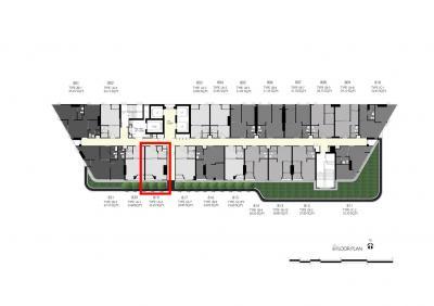 ขายดาวน์คอนโดคลองเตย กล้วยน้ำไท : The Tree Rama 4 ห้อง 1-bed ติดสวน ชั้น 8 เพียง 124,442 บาท/ตร.ม.