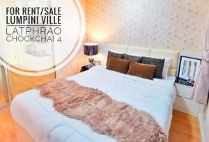 For RentCondoLadprao 48, Chokchai 4, Ladprao 71 : ❤❤❤ ((Rent / Sale)) Lumpini Ville Ladprao-Chokchai 4 Building A 9th Floor Adjusted floor plan Renovate, beautiful, crush Fir is very full !! (BA994)