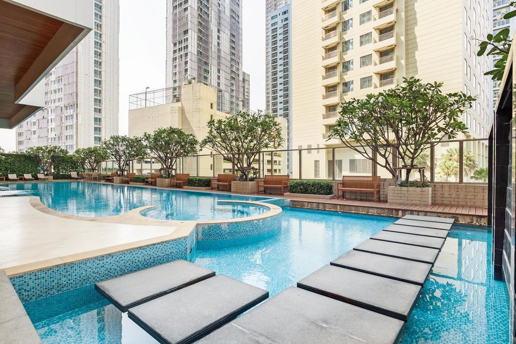 ขายคอนโดสุขุมวิท อโศก ทองหล่อ : Super hot deal Bright 24: 1B size 74 sq. m., Pool view, Fully furnished, Nice layout, Sell 12 MB (only 16x,xxx/sq. m.)