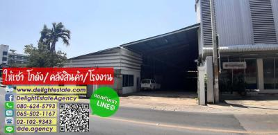 For RentWarehouseDaokanong,Bang Bon : DE349 Warehouse for rent 8,000 sqm. Cheap price with office. Ekachai-Bangbon area