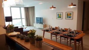 For RentCondoWongwianyai, Charoennakor : The River condo for rent near Icon Siam 2 bedrooms 3 bathrooms 132 sqm. rental 85,000 baht/month