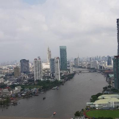 For SaleCondoRama3 (Riverside),Satupadit : New condo for sale, Chao Phraya River view, Menam residences, 3 bedrooms