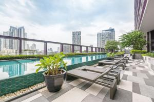 For SaleCondoSukhumvit, Asoke, Thonglor : Best deal‼️Renovated 1B size 43.5 (only 13x,xxx /sq m) City view, Fully furnished, Nice interior Sell 5.9 MB only (BTS Thonglor)