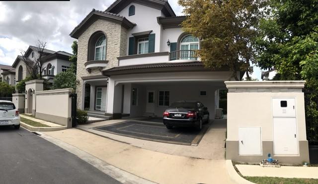 ขายบ้านบางนา แบริ่ง : RH225ให้เช่าบ้านเดี่ยว 2 ชั้นสไตล์ยุโรป หมู่บ้านนันทวัน บางนา กม 7