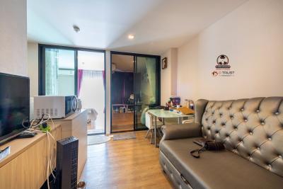 For SaleCondoSamrong, Samut Prakan : Tropicana Condo for sale, 2 bedrooms, price 1.96 million, 35.40 square meters, free furniture