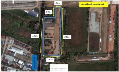 ขายที่ดินพัฒนาการ ศรีนครินทร์ : ขายที่ดินถมแล้ว ติดถนนศรีนครินทร์-ร่มเกล้า 11ไร่1งาน22.2ตารางวา