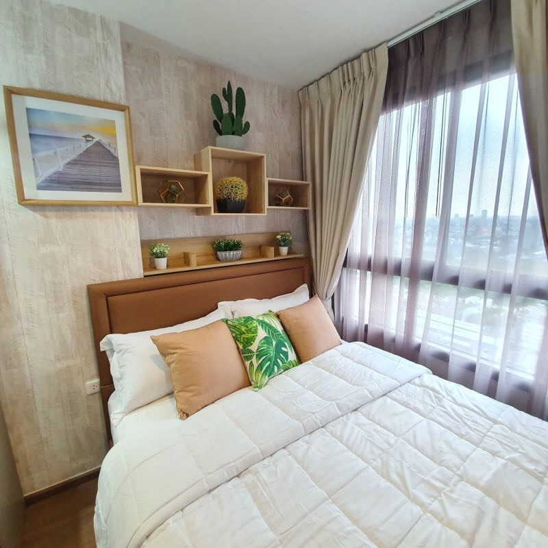 For RentCondoOnnut, Udomsuk : Quick rental, two bedrooms, two bathrooms, Condo Ideo Sukhumvit 93, fully furnished, renting only 35,000 baht