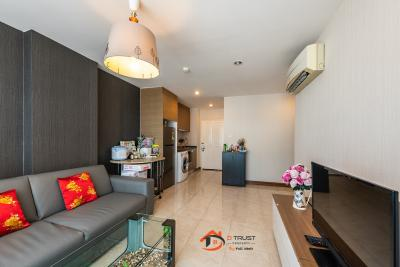 For RentCondoRatchadapisek, Huaikwang, Suttisan : Condo for rent, Design Ratchada corner room, 2 bedrooms, fully furnished