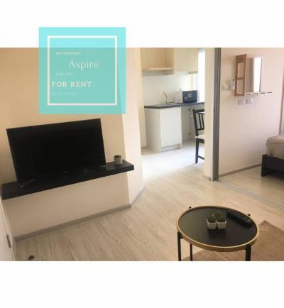 For RentCondoRattanathibet, Sanambinna : For rent, Aspire Condo Rattanathibet 2 Separate partition, living room, only 7500 baht / month