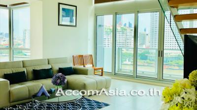 เช่าคอนโดวงเวียนใหญ่ เจริญนคร : Duplex | The River Condominium 3 Bedroom For Rent BTS Krung Thon Buri in Charoenakorn Bangkok