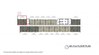 ขายคอนโดพระราม 3 สาธุประดิษฐ์ : ขาย The Key พระราม 3 ตำแหน่ง A10 และ A11 ชั้น 25-33  2 นอน  ชั้นสูง มี 3 ห้อง