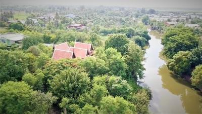 "For SaleLandRangsit, Patumtani : 0090 ""Land 270 Rai 79 sq.w. Lat Lum Kaeo, Pathum Thani, beautiful, good location, purple with canal passing through"""