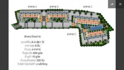 ขายคอนโดบางกรวย ราชพฤกษ์ : ขายห้องชุดโครงการสัมมากร เอสเก้า ตึก A แบบ 1 ห้องนอน ขนาด 27.50 ตร.ม.
