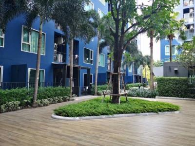 เช่าคอนโดวิภาวดี ดอนเมือง : 🏢ให้เช่า Happy Condo Donmuang The Terminalรายละเอียด - ตึก D - ชั้น 1 วิวสวน และสระว่ายน้ำ