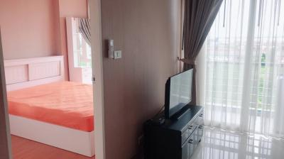 For SaleCondoLadkrabang, Suwannaphum Airport : Urgent sale !! Airlink condo Romklao-Suvarnabhumi 1 bedroom for sale with tenant