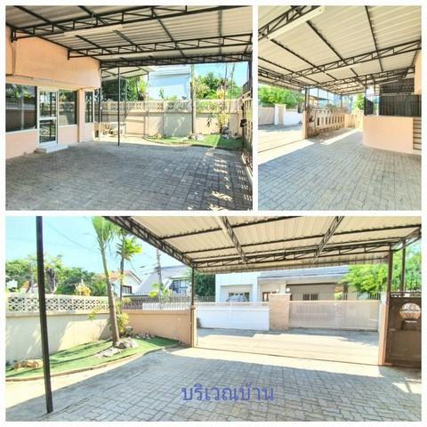 For RentHouseRatchadapisek, Huaikwang, Suttisan : 2 storey detached house for rent near Mengjai intersection, Huay Kwang district, Ratchada Niwet village, New renovated house