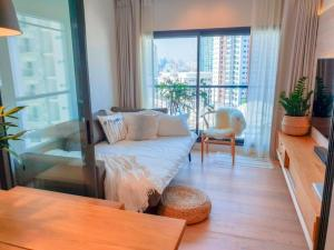 For SaleCondoOnnut, Udomsuk : +++ Hot sale, very beautiful room +++ Life Sukhumvit 48 * 2 bedrooms, 49 sq.m., 10th floor, fully furnished, ready to move in