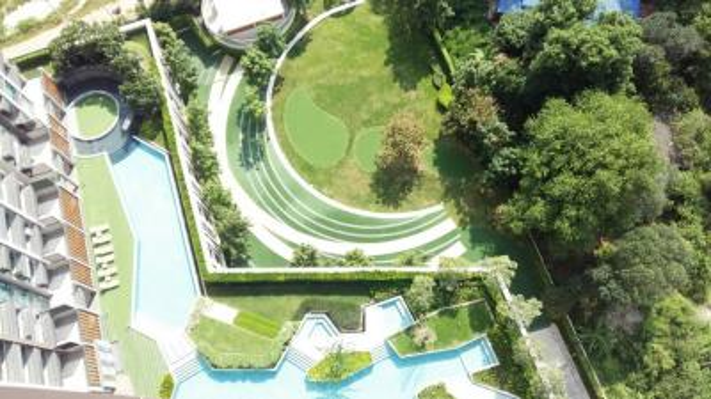 For SaleCondoPattaya, Bangsaen, Chonburi : Rent / Sale Condo KnightsBridge the Ocean Sriracha 29.63 sq.m 23th floor Nice View, Fully furnished