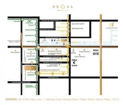 ขายดาวน์คอนโดบางนา แบริ่ง : ขายดาวน์ Regal 76 ห้อง Duplex with Private pool 73sqm Floor 17-18 Building C SUPER RARE Item