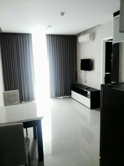 For RentCondoRama9, RCA, Petchaburi : Condo for rent at Sea Green, 37.5 sq.m., 1 bedroom, 1 bathroom, 15th floor, Building A
