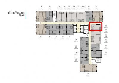 ขายดาวน์คอนโดอ่อนนุช อุดมสุข : Ideo สุขุมวิท-พระราม 4 ห้อง Promotion 3.59 ล้าน ชั้น 8 ทิศตะวันออก วิวโล่ง