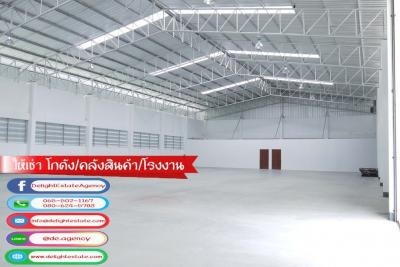 For RentWarehouseCentral Provinces : DE390 Warehouse / warehouse for rent 800 sq.m. on the main road in the Rojana Industrial Estate, Ayutthaya.