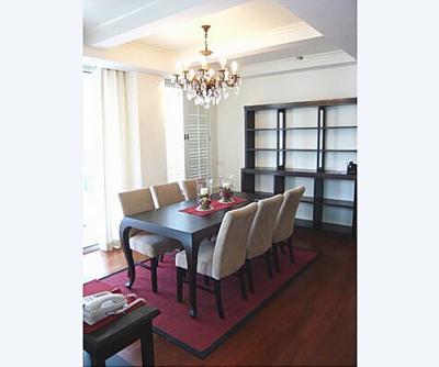 For RentCondoWitthayu,Ploenchit  ,Langsuan : Condo Langsuan Ville @BTS Chit Lom 3 Minute, 111 sq.m 8th floor Nice View, Fully furnished