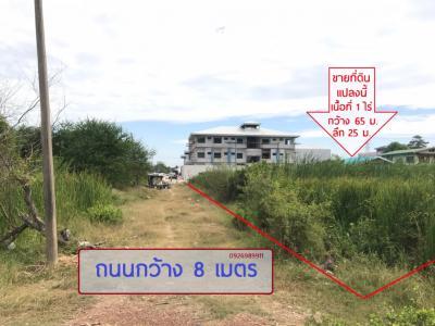 ขายที่ดินลาดกระบัง สุวรรณภูมิ : ขาย ที่ดินเปล่า 1 ไร่ ซอย อ่อนนุช 65 แยก 15-4 (ถนนสุขุมวิท 77) ทำเลดี เหมาะกับซื้อลงทุน สร้างที่อยู่อาศัย สร้างโกดัง โรงงาน