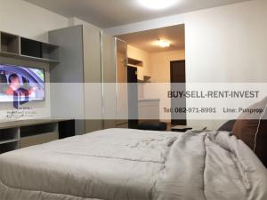 For RentCondoRama9, RCA, Petchaburi : Condo for rent, Supalai Veranda, Rama 9, near expressway, Studio room with furniture, Building B, high floor, 11, 000 baht / month