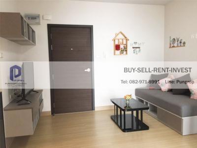 For RentCondoRama9, RCA, Petchaburi : Condo for rent Supalai Veranda Rama 9, near the expressway, 1 bedroom, with furniture, Building A 15,000 baht / month