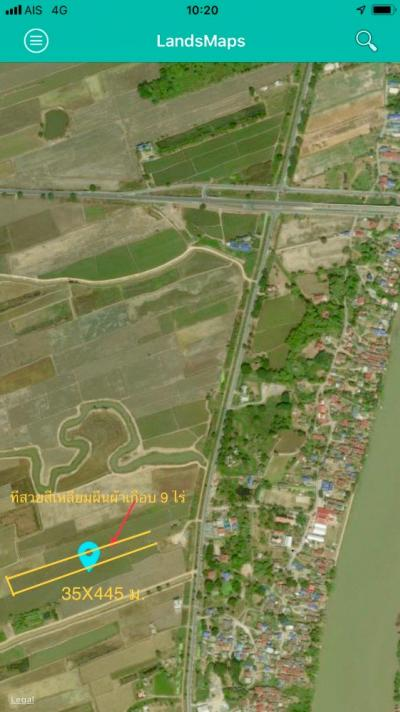 For SaleLandCentral Provinces : Beautiful plot of land area of 8-3-55 rai, Bang Pa-in, Ayutthaya.